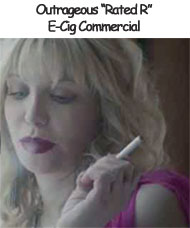 Courtney Love in NJoy Video Commercial