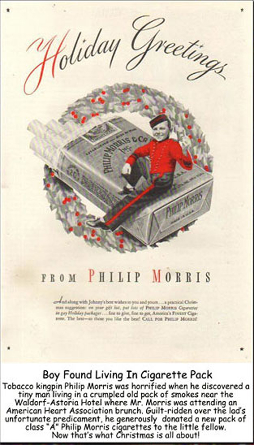 Fractured Christmas Ad-Philip Morris Ad - e-cigarette news