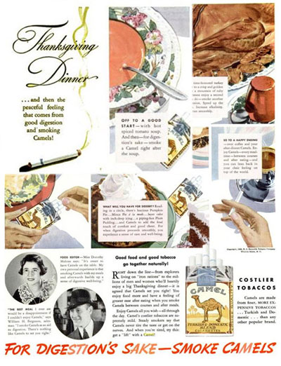 Camels Thanksgiving Ad - E-cigarette news
