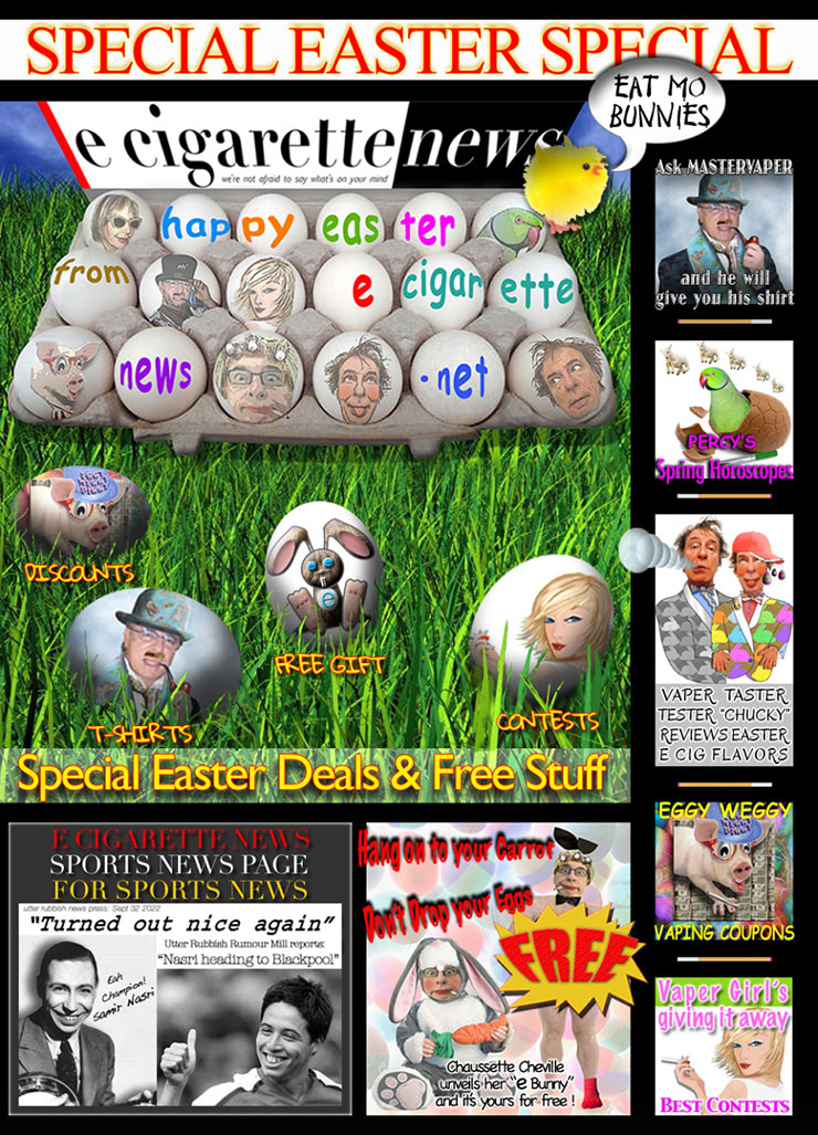 E-Cigarette News Easter 2014 Edition