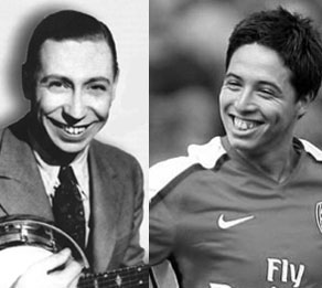 George Formby and Samir Nasri look alikes