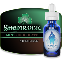 Halo Cigs Shamrock mint chocolate flavor eliquid