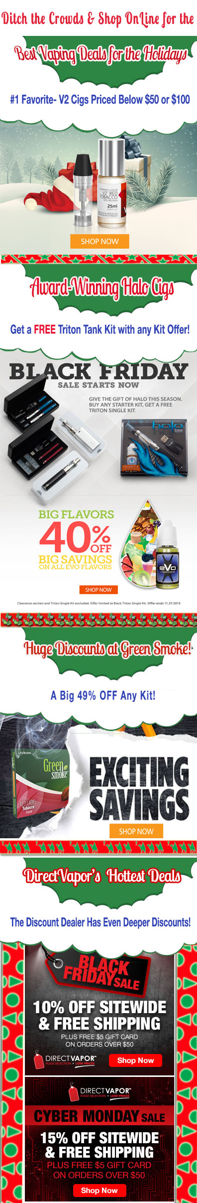 Best Holiday Deals on Vaping and Ecigarette Products