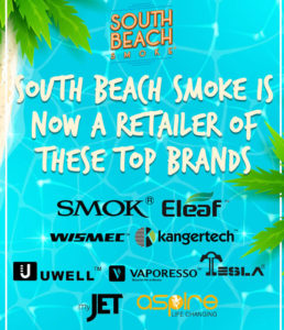 South Beach Smoke now sells top Ecig Brands
